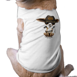 Cute Chihuahua Puppy Zombie Hunter Shirt