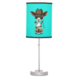 Cute Chihuahua Puppy Zombie Hunter Table Lamp