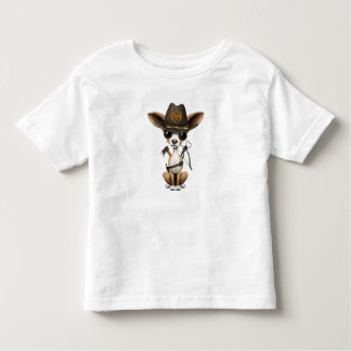 Cute Chihuahua Puppy Zombie Hunter Toddler T-shirt