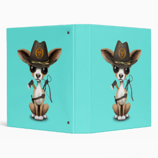 Cute Chihuahua Puppy Zombie Hunter Vinyl Binder