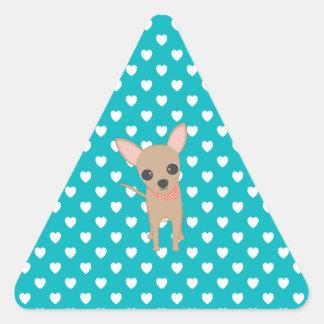 Cute Chihuahua Triangle Sticker