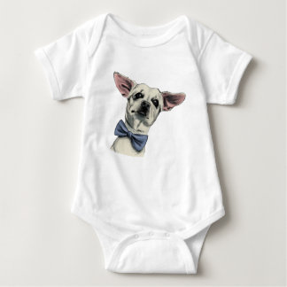 Cute Chihuahua with Bow Tie Drawing Baby Bodysuit