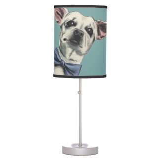 Cute Chihuahua with Bow Tie Drawing Table Lamp