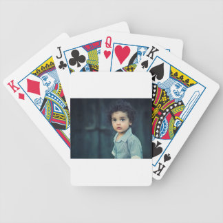 Cute Child Bicycle Playing Cards