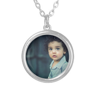 Cute Child Silver Plated Necklace
