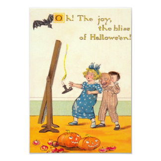 Cute Children Prank Jack O Lantern Card