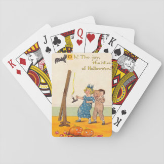 Cute Children Prank Jack O Lantern Playing Cards
