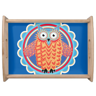 Cute Children's Birthday Party Owl Serving Tray