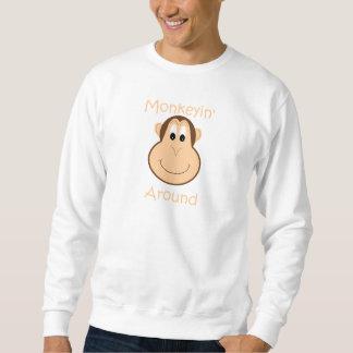Cute chimp men's sweatshirt