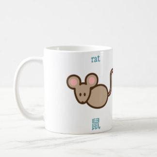 Cute Chines Zodiac Mouse Coffee Mug