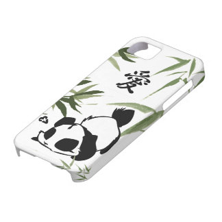 "Cute Chinese ""Love"" Panda with Bamboos iPhone 5 Case"