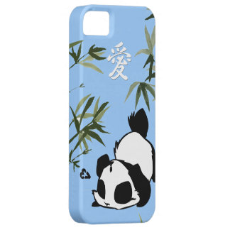 "Cute Chinese ""Love"" Panda with Bamboos iPhone 5 Covers"