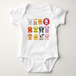 Cute Chinese Zodiac Cartoon Animals T Shirts