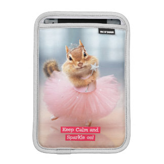 Cute Chipmunk Ballerina in tutu at Dance Studio iPad Mini Sleeves