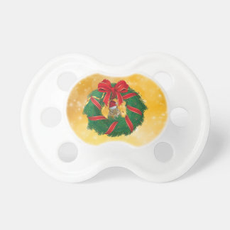 Cute Chipmunk Christmas Wreath Pacifier