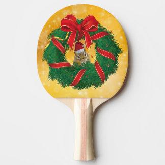 Cute Chipmunk Christmas Wreath Ping Pong Paddle