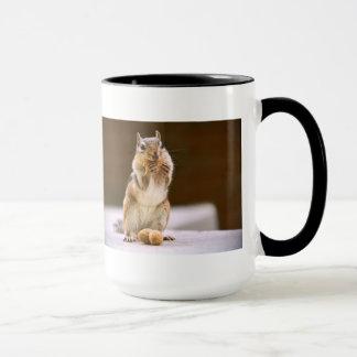 Cute Chipmunk Eating a Peanut Mug