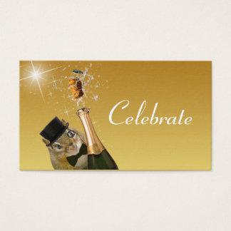 Cute Chipmunk Formal Celebration Business Card