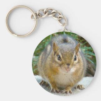 Cute Chipmunk Has His Eye On You Keychain