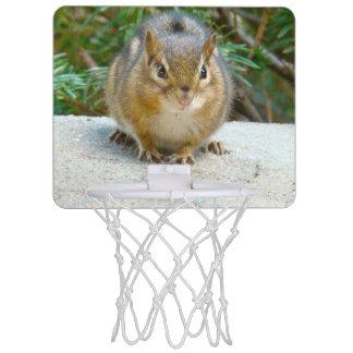 Cute Chipmunk Has His Eye On You Mini Basketball Hoop
