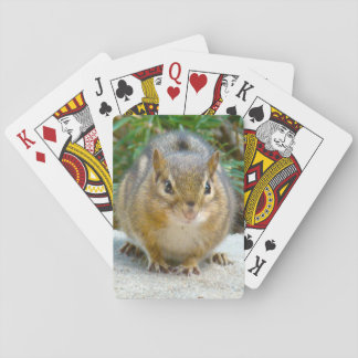 Cute Chipmunk Has His Eye On You Playing Cards