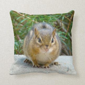 Cute Chipmunk Has His Eye On You Throw Pillow