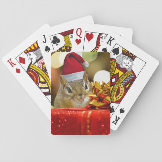 Cute Chipmunk Merry Christmas Playing Cards
