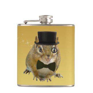 Cute Chipmunk New Year's Eve Party Hip Flask