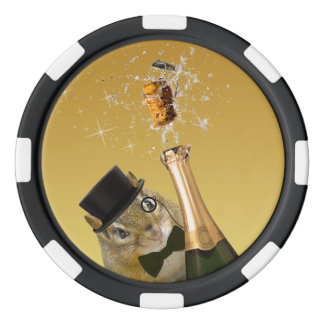 Cute Chipmunk New Year's Eve Party Poker Chips