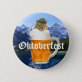 Cute Chipmunk Oktoberfest Mountains 2 Inch Round Button
