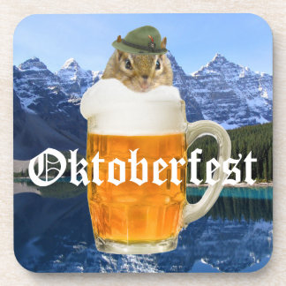 Cute Chipmunk Oktoberfest Mountains Coaster