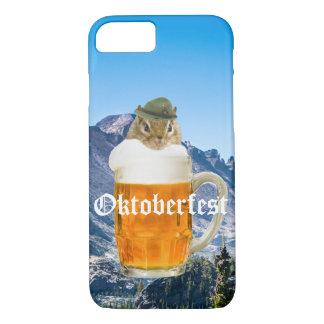 Cute Chipmunk Oktoberfest Mountains iPhone 8/7 Case