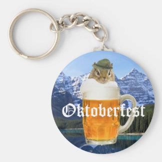 Cute Chipmunk Oktoberfest Mountains Keychain