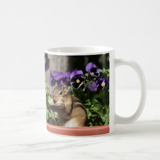 Cute Chipmunk - Peanut Pansies Funny Crossing Sign Coffee Mug