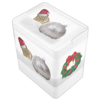 Cute Chipmunk Silver and Snow Christmas Holiday