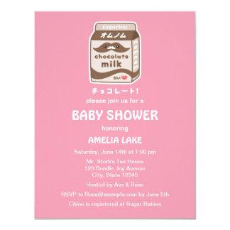 Cute Chocolate Milk Baby Shower Invitations