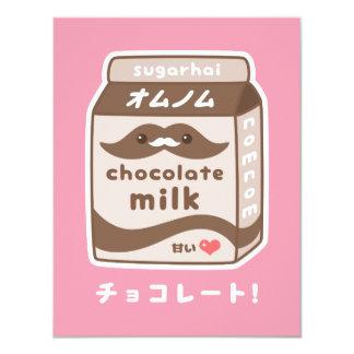 Cute Chocolate Milk Birthday Party Invitations