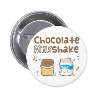 Cute Chocolate Milkshake Doodle For Her 2 Inch Round Button