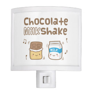 Cute Chocolate Milkshake Doodle For Her Nite Lite