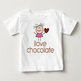 Cute Chocolate Stick Girl Baby Tee