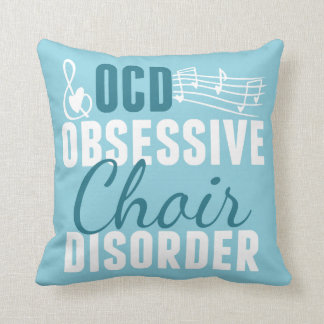 Cute Choir Teal Throw Pillow