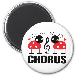 Cute Chorus Red Ladybugs Magnet