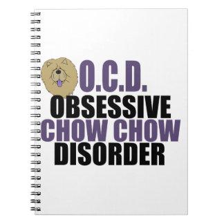 Cute Chow Chow Spiral Notebook