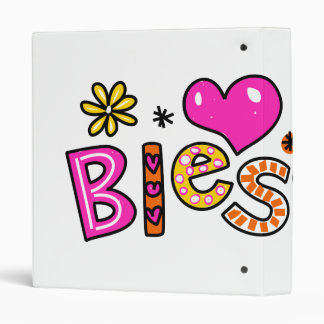 Cute Christian Blessed Greeting Text Expression Vinyl Binder