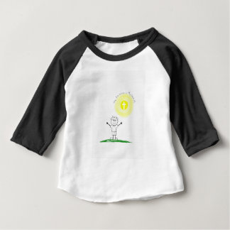 Cute Christian character with scripture Baby T-Shirt