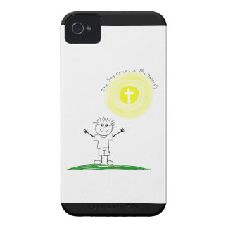 Cute Christian character with scripture Case-Mate iPhone 4 Case
