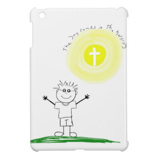 Cute Christian character with scripture Cover For The iPad Mini