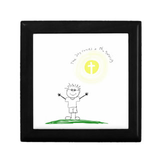 Cute Christian character with scripture Gift Box