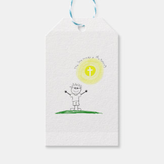 Cute Christian character with scripture Gift Tags