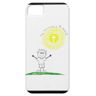 Cute Christian character with scripture iPhone 5 Cases